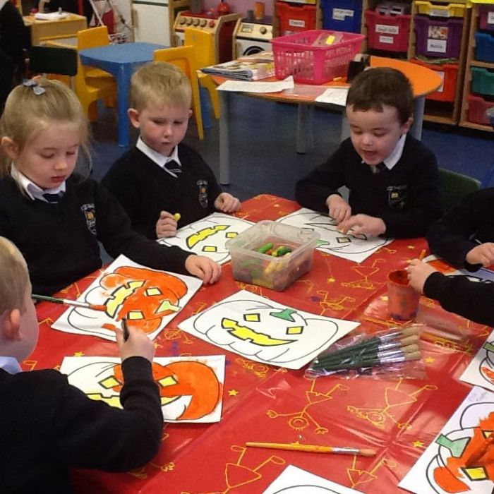 We are painting our Pumpkins!