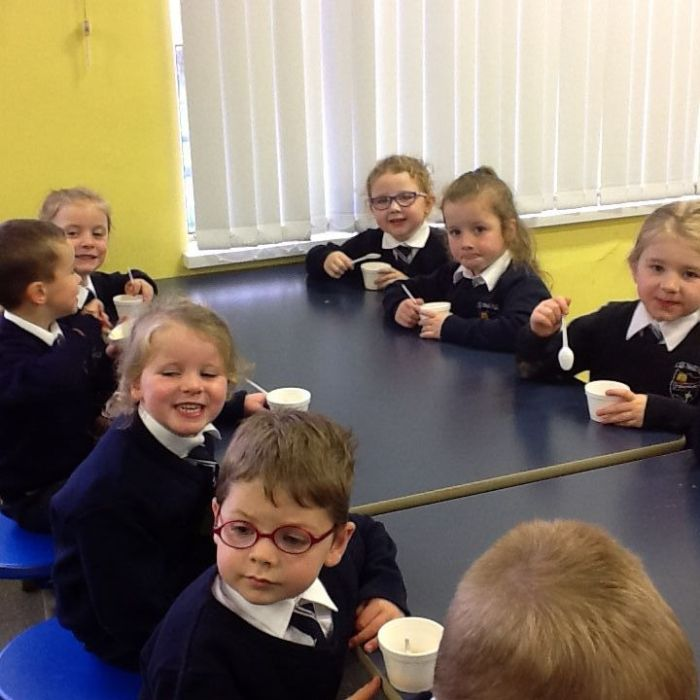 Our pumpkin soup tasted lovely!
