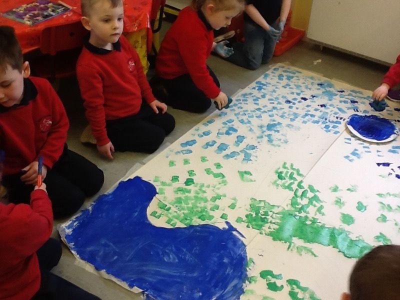We enjoyed painting on the Spring colours.