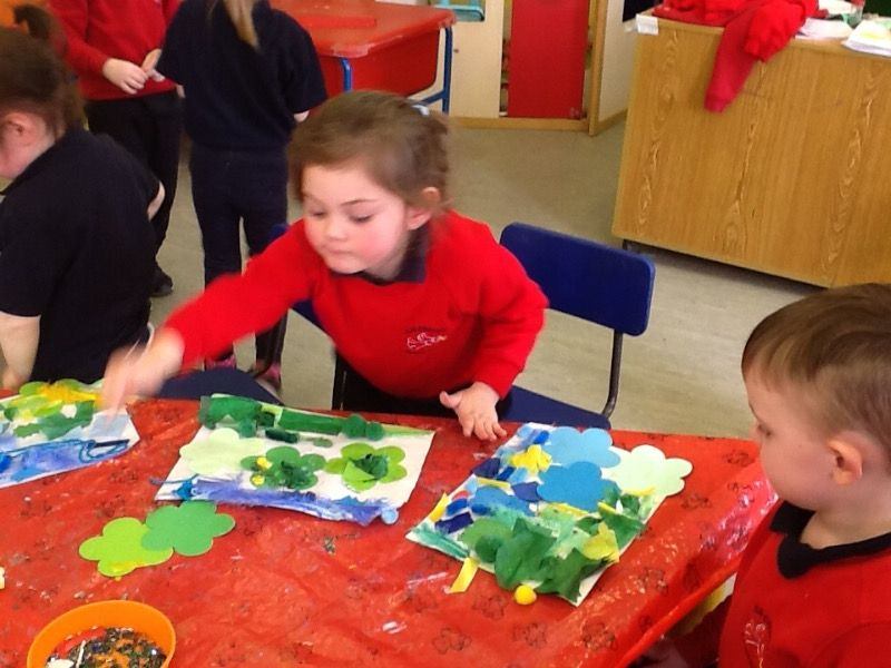 We enjoyed creating lovely pictures.
